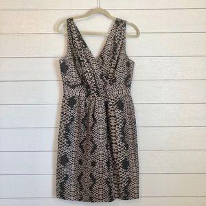 Banana Republic Silk Snake Print Dress size 8